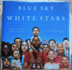 patriotic and inclusive picture book blue sky white stars