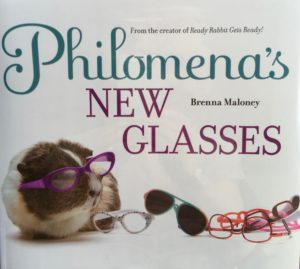cute book about siblings philomena's new glasses