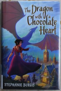 delicious fantasy and adventure story dragon with a chocolate heart
